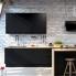 #Colonne de cuisine N°59 - MO encastrable niche 36/38 - IPOMA Noir mat - 5 tiroirs - L60 x H125 x P58 cm