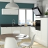 #Meuble de cuisine - Angle bas vitré - STATIC Blanc - 1 porte n°84 L40 cm - L65 x H92 x P37cm