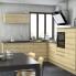 #Meuble de cuisine - Angle haut - IPOMA Chêne naturel - Tourniquet 1 porte N°19 L40 cm - L65 x H70 x P37 cm