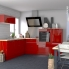 #Meuble de cuisine - Bas coulissant - STECIA Rouge - 1 porte - L60 x H57 x P58 cm