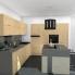 #Plan de travail cuisine N°301 - Décor Quartz Gris - Stratifié - Chant coordonné - L205 x l62 x E3,8 cm - PLANEKO