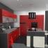 #Plan de travail cuisine N°503 - Décor Béton banché - Stratifié - Chant coordonné - L205 x l62 x E3,8 cm - PLANEKO