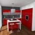 #Plan de travail cuisine N°502 - Décor Beton Gris clair - Stratifié - Chant coordonné - L300 x l62 x E3,8 cm - PLANEKO