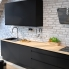 #Meuble de cuisine - Bas - IPOMA Noir mat - 2 tiroirs à l'anglaise - L40 x H70 x P58 cm
