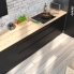 #Ipoma Noir mat - Kit Rénovation 18 - Colonne Four+MO 36/38 N°1016  - 1 abattant 1 porte - L60xH195xP60