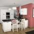 #Colonne de cuisine N°1657 - Four encastrable niche 60 - STATIC Blanc - 1 porte 2 casseroliers - L60 x H195 x P58 cm
