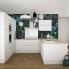 #Colonne de cuisine N°2757 - Armoire étagère - PIMA Blanc - 2 tiroirs casserolier - L60 x H195 x P58 cm