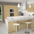 #Meuble de cuisine - Bas - IPOMA Chêne naturel - 1 porte - L60 x H57 x P58 cm