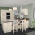 #Colonne de cuisine N°2159 - MO encastrable niche 36/38 - KERIA Ivoire - 1 porte 5 tiroirs - L60 x H195 x P37 cm