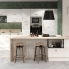#Colonne de cuisine N°2157 - Four encastrable niche 45  - BORA Blanc - 1 porte 2 casseroliers - L60 x H195 x P37 cm