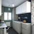 #Colonne de cuisine N°1358 - Four+MO encastrable niche 36/38 - FAKTO Béton - 1 porte 3 tiroirs - L60 x H217 x P58 cm