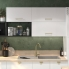 #Colonne de cuisine N°2157 - Four encastrable niche 45  - BORA Blanc - 1 porte 2 casseroliers - L60 x H195 x P58 cm