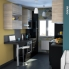 #Colonne de cuisine N°2121 - MO encastrable niche 36/38 - KERIA Noir - 2 portes 1 tiroir - L60 x H195 x P37 cm