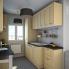 #BASILIT Bois Vernis - Colonne Four niche 45 N°2157  - 1 porte 2 casseroliers - L60xH195xP58