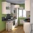 #Colonne de cuisine N°2157 - Four encastrable niche 45  - FILIPEN Ivoire - 1 porte 2 casseroliers - L60 x H195 x P58 cm