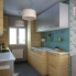 #Colonne de cuisine N°1657 - Four encastrable niche 60 - HOSTA Chêne naturel - 1 porte 2 casseroliers - L60 x H195 x P58 cm