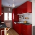 #Colonne de cuisine N°2758 - Armoire étagère - STECIA Rouge - 3 tiroirs casserolier - L60 x H195 x P37 cm