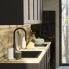 #Meuble de cuisine - Haut MO encastrable niche 38 - AVARA Frêne Noir - 1 porte - L60 x H92 x P37 cm