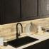 #Meuble de cuisine - Bas suspendu - AVARA Frêne Noir - 1 porte - L60 x H41 x P58 cm