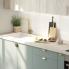 #Colonne de cuisine N°2721 - Armoire de rangement ouvrante - HELIA Vert - 12 paniers plateaux - L60 x H195 x P58 cm