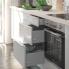 #Colonne de cuisine N°1926 - Armoire étagère - IVIA Gris - 2 portes - L40 x H195 x P58 cm