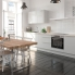 #Colonne de cuisine N°1059 - Four+MO encastrable niche 36/38 - IVIA Gris - 1 abattant 3 tiroirs - L60 x H195 x P58 cm