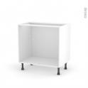 Caisson bas N°8 - Meuble de cuisine  - L80 x H70 x P56 cm - SOKLEO