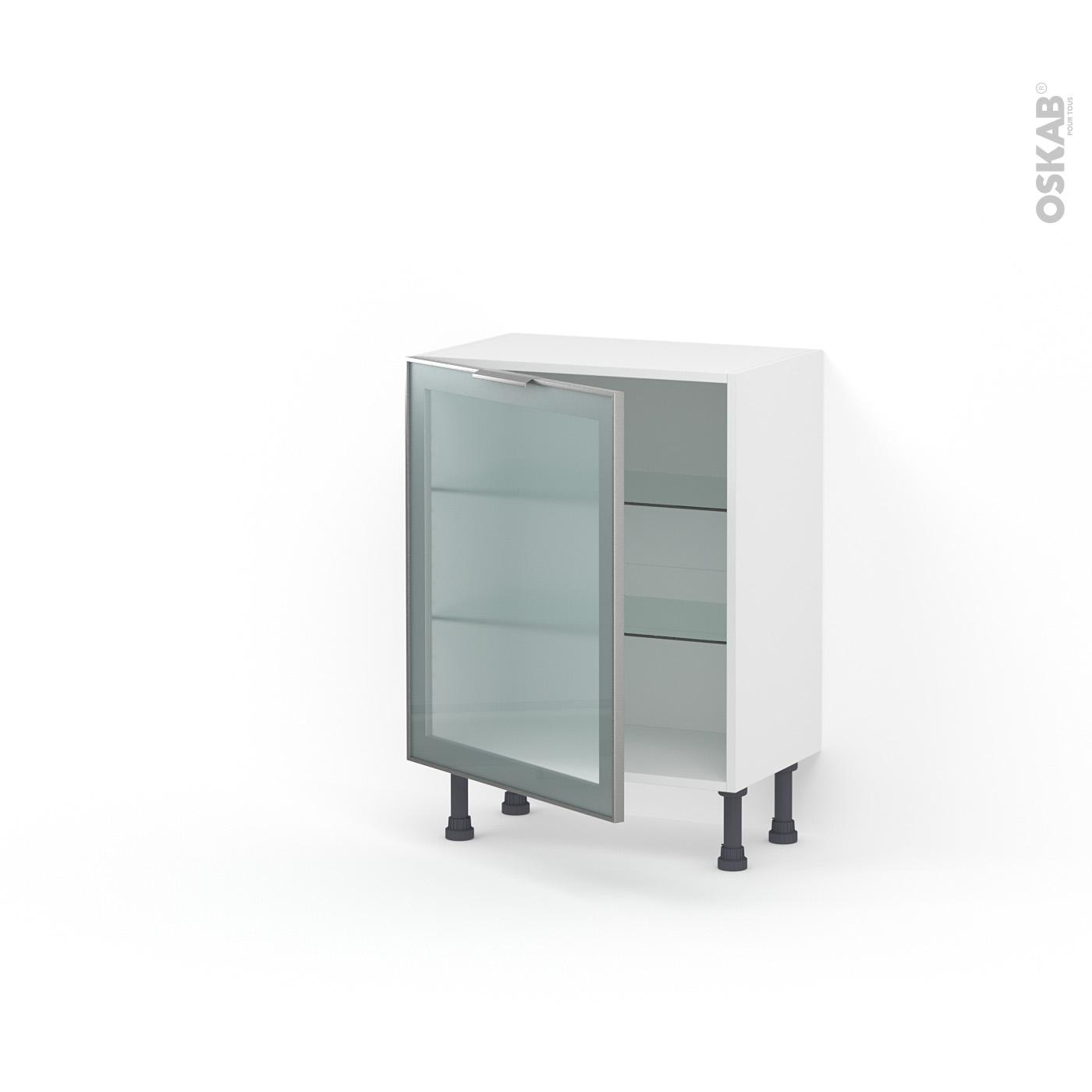 Meuble haut & bas cuisine vitré, Porte vitrée noir, blanc ou ...