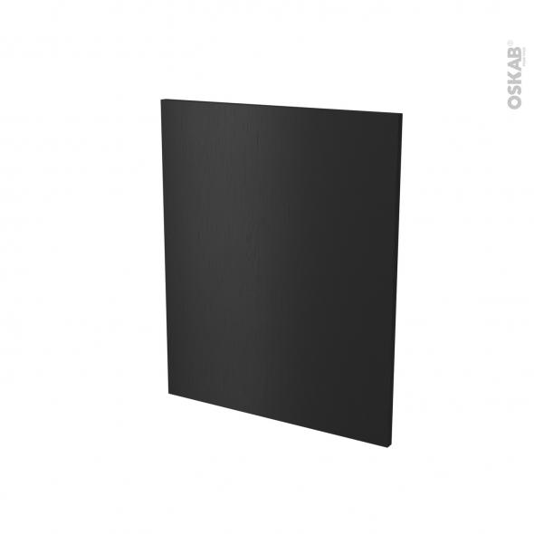Finition cuisine - Joue N°29 - AVARA Frêne Noir - Avec sachet de fixation - A redécouper - L58 x H41 x Ep.1.6 cm