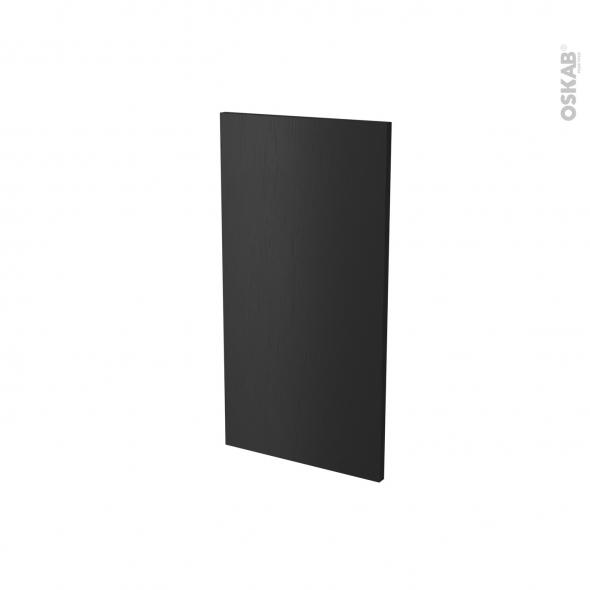 Finition cuisine - Joue N°30 - AVARA Frêne Noir - Avec sachet de fixation - A redécouper - L37 x H41 x Ep.1.6 cm