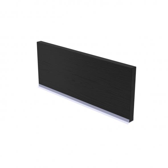 Plinthe de cuisine - AVARA Frêne Noir - avec joint d'étanchéité - L220xH15,4