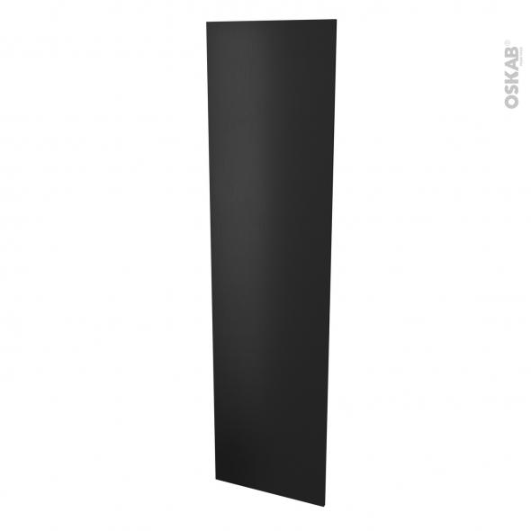 Finition cuisine - Joue N°89 - AVARA Frêne Noir  - Avec sachet de fixation - L58 x H217 x Ep 1,6 cm