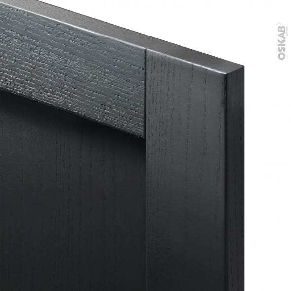 Finition cuisine - Habillage arrière îlot N°95 - AVARA Frêne Noir  - Avec sachet de fixation - L60 x H70 x Ep 1,6 cm