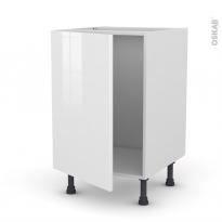 Meuble de cuisine - Sous évier - BORA Blanc - 1 porte - L50 x H70 x P58 cm