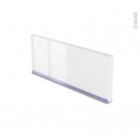Plinthe de cuisine - BORA Blanc - avec joint d'étanchéité - L220xH15.4