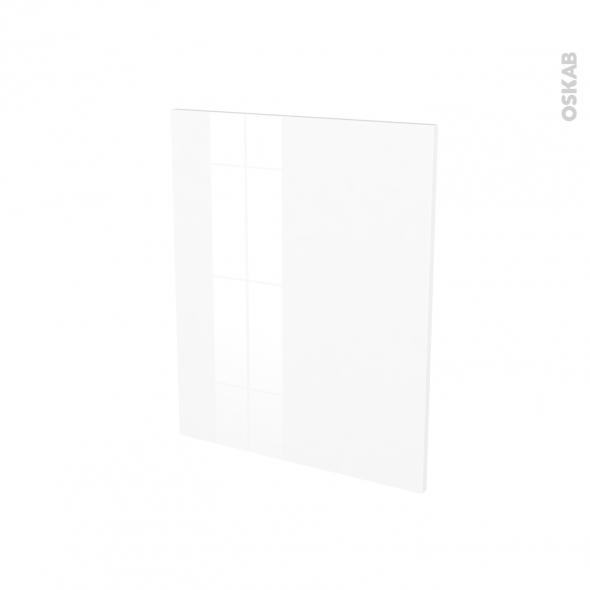 Finition cuisine - Joue N°29 - BORA Blanc - Avec sachet de fixation - A redécouper - L58 x H57 x Ep.1.6 cm