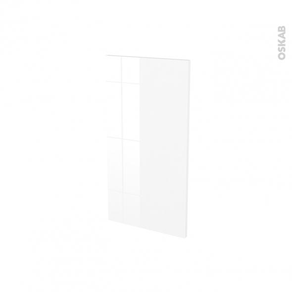 Finition cuisine - Joue N°30 - BORA Blanc - Avec sachet de fixation - L37 x H70 x Ep.1.6 cm