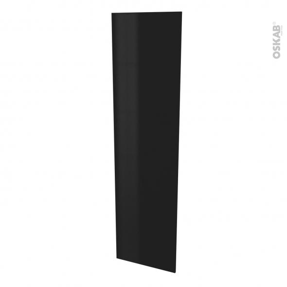 Finition cuisine - Joue N°89 - GINKO Noir - Avec sachet de fixation - L58 x H217 x Ep 1,6 cm