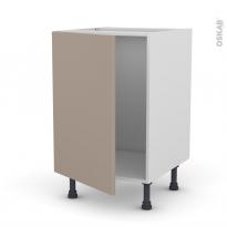 Meuble de cuisine - Sous évier - GINKO Taupe - 1 porte - L50 x H70 x P58 cm