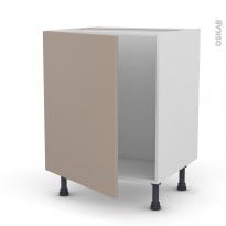 Meuble de cuisine - Sous évier - GINKO Taupe - 1 porte - L60 x H70 x P58 cm