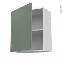 Meuble de cuisine - Haut ouvrant - HELIA Vert - 1 porte - L60 x H70 x P37 cm