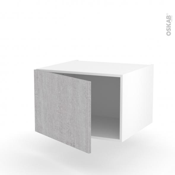Meuble de cuisine - Bas suspendu - HODA Béton - 1 porte - L60 x H41 x P58 cm