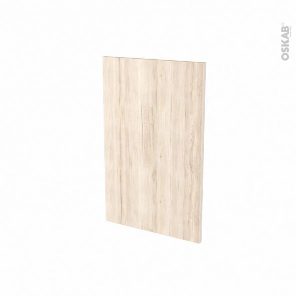 Porte lave vaisselle - Full intégrable N°87 - IKORO Chêne clair - L45 x H70 cm