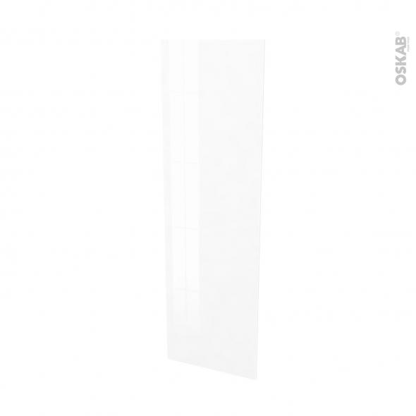 Finition cuisine - Joue N°88 - IPOMA Blanc brillant  - Avec sachet de fixation - L58 x H195 x Ep 1,6 cm