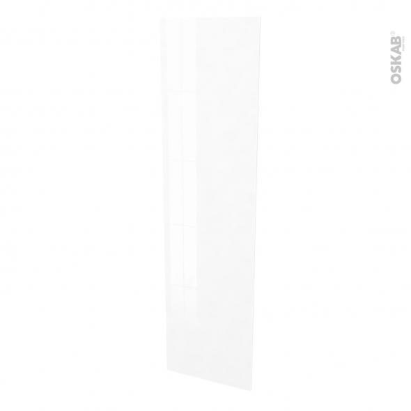 Finition cuisine - Joue N°89 - IPOMA Blanc brillant  - Avec sachet de fixation - L58 x H217 x Ep 1,6 cm