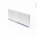 Plinthe de cuisine - IPOMA Blanc mat - avec joint d'étanchéité - L220xH15,5