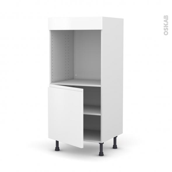 Colonne de cuisine N°16 - Four encastrable niche 60 - IPOMA Blanc mat - 1 porte - L60 x H125 x P58 cm
