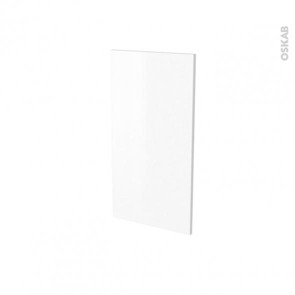 Finition cuisine - Joue N°30 - IPOMA Blanc mat - Avec sachet de fixation - A redécouper - L37 x H41 x Ep.1.6 cm