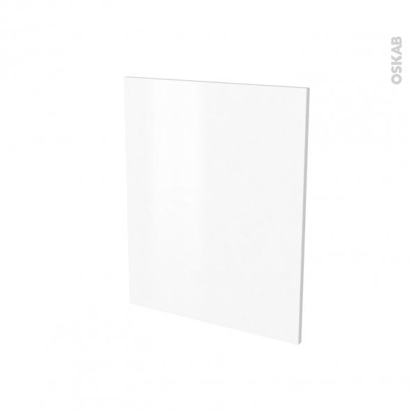 Finition cuisine - Joue N°29 - IPOMA Blanc mat - Avec sachet de fixation - A redécouper - L58 x H57 x Ep.1.6 cm