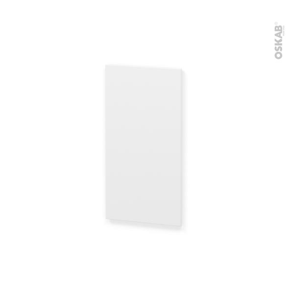 IPOMA Blanc mat - Rénovation 18 - joue N°81 - Avec sachet de fixation - L37.5 x H70 Ep.1.2 cm